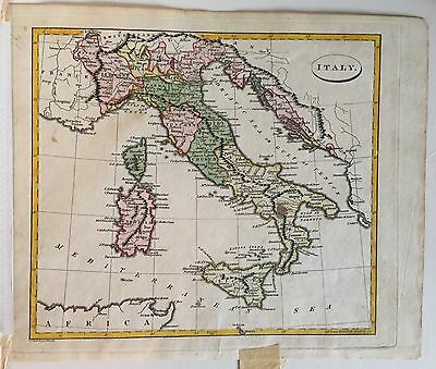 Antique Map of Italy 1810 J. C. Russell Ostell's New General Atlas 19th c.