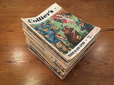 Lot of 72 Collier's Magazines 1949 1952 1953 1954 1955 1956 Cold War Football