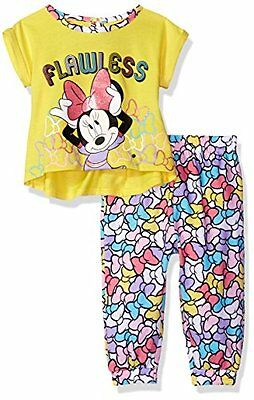 NWT Disney Baby Girls' Minnie Mouse 2-Piece Top and Jogger Pant Set, 18 month
