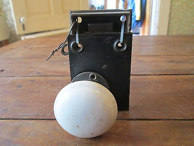 Vintage--White Door Knobs--With Hardware--Free Shipping--#2