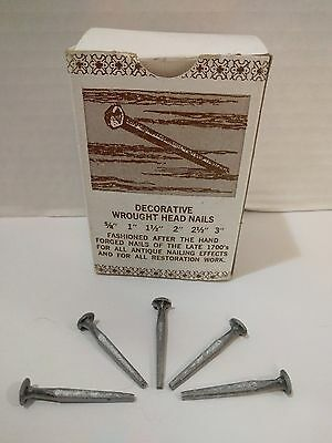 "Old-Fashioned Cut Decorative Wrought Head Nails - 1-1/2"" Lg. - 85 Ct."