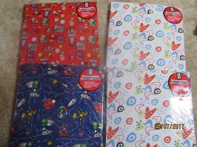 NIP Lot of 4 Space Sciene Sports Geddes Book Covers ~Stretchy & Washable~
