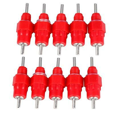 10PCS Poultry Drinking Nipples Chicken Hen Auto Water Screw In Style Drinkers #M