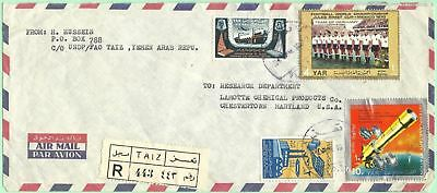 July 1970 Yemen Arab Republic Registered Hussein to Lamotte Chemical MD SCARCE