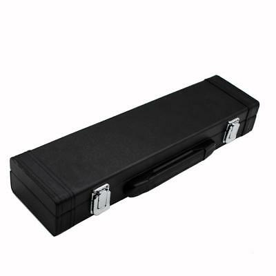 Durable Flute Case Storage Leather Box for Stage Practice Accessory Black