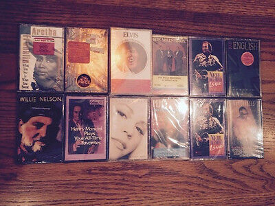 13 Audio Cassette Tapes (Sealed) Allman Brothers,percy Sledge,elvis,see Descrip