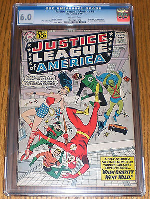 CGC 6.0 Off-White Pages! Justice League of America #5 Jun-Jul 1961 Wonder Woman