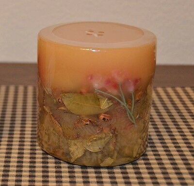 Longaberger 4x4 Inclusion Candle ~ Sweetheart Rose Fragrance ~ NEW