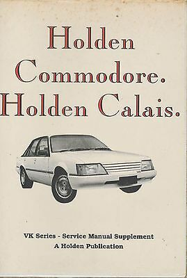 Holden Commodore, Holden Calais –VK Series, Service Manual Supplement M39101