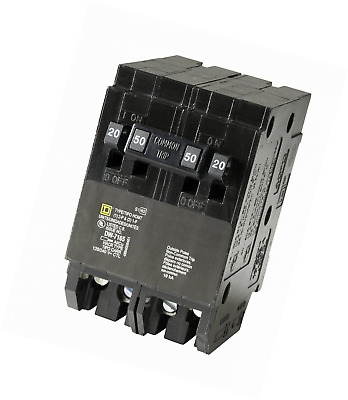 Square D by Schneider Electric HOMT2020250CP Homeline 2-20-Amp Single-Pole 1-50-