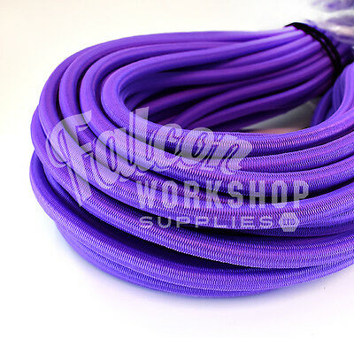 8mm VIOLET PURPLE INDUSTRIAL TYPE BUNGEE ROPE SHOCK CORD LUGGAGE STRAP ELASTIC