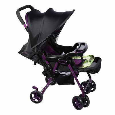 New Baby Kid Sun Shade Black Folding Pop Up Canopy Stroller Cover Parasol Hood