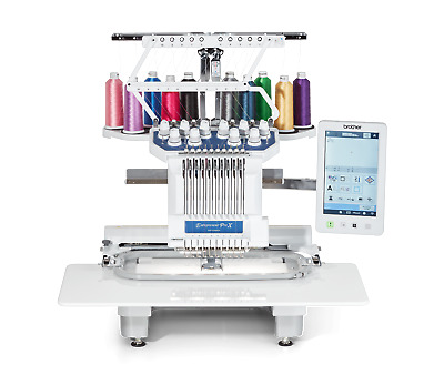 Brother PR1050X Industrial Embroidery Machine, USB Ports, 10 needle, 1000 SPM