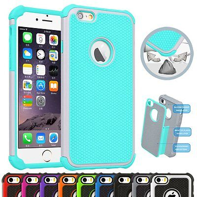 Hybrid Shockproof Back Rugged Rubber PC Hard Case Cover for iPhone 6 6s Plus