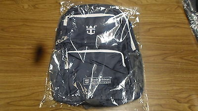 NEW Royal Caribbean Backpack Navy Blue Straps, 2 Front Zip Pocket, Side Pockets
