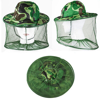 NEW Mosquito Resistance Bug Net Mesh Head Face Protector Cap Sun Hat