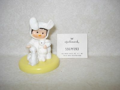 1974 Rare Hallmark *CHILD IN BUNNY SUIT* Easter Merry Miniature w/original tag