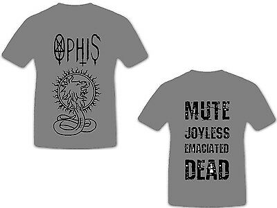 OPHIS - Jaldabaoth - grey - T-Shirt - Größe Size XXL - Neu - Death Doom Band