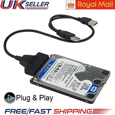 USB To SATA Converter Lead Cable Adapter 2.5″ External HDD SSD Hard Disk Drive