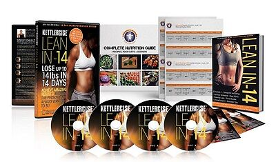KETTLERCISE LEAN IN 14 EXERCISE DVD including meal guides, workout plans, etc