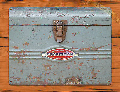"TIN-UPS TIN SIGN ""Craftsman Toolbox"" Tools Vintage Garage Rustic Wall Decor"