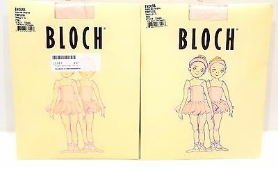Bloch Endura Footless Tights T0940G Lot of 2 Girls Child Size SMALL 4-5 Pink NEW