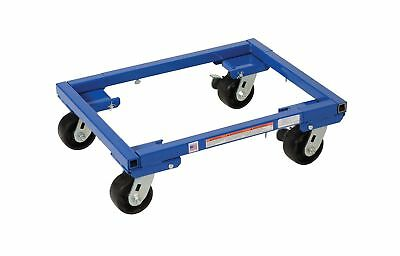 """Vestil ATD-1622-4 Steel Adjustable Tote Dolly with 4"""" Casters 2000 lbs Capaci..."""