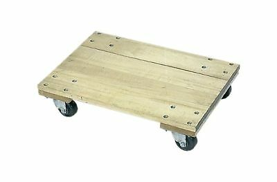"""Wesco Industrial Products 272065 Wood Solid Platform Dolly with 4"""" Casters 12..."""
