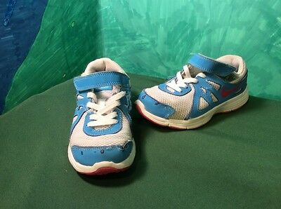 Girls Nike Revolution 2 Running Athletic Shoes Grey Aqua Pink Toddler Size 11C