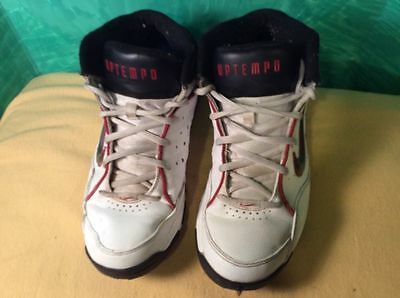 NIKE 2006 Air Uptempo Pro Size 9 Basketball Shoes Red Black 313125-101 6ad4cbb9a
