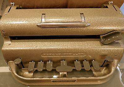 Vintage Perkins Brailler - Excellent Condition - LG box of Braill paper