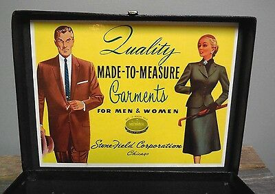 1950's Quality Made-To-Measure Garments for Men & Women Salesman Suitcase Case