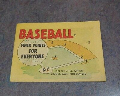 1962 DX Gasoline Giveaway Baseball finer points everyone MLB Babe Ruth Comics