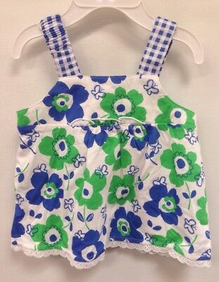 First Impressions Baby Girl Blue Green Floral Tunic Shirt 12 Months