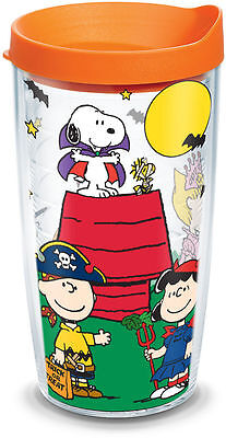 NEW Tervis Peanuts Gang Halloween Trick or Treat Wrap 16 oz Tumbler Cup w/ Lid