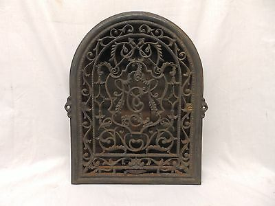Antique Cast Iron Heat Arch Top Dome Ornate Grate Vent Register Vtg 12x9 368-17P
