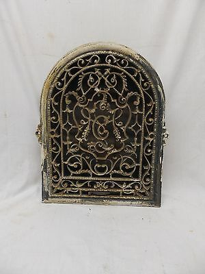 Antique Cast Iron Heat Arch Top Dome Ornate Grate Vent Register Vtg 12x9 369-17P