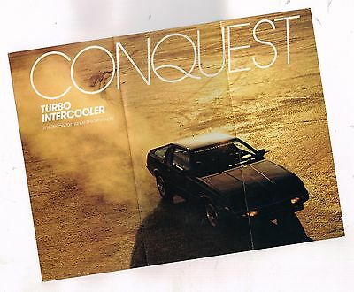 1985 Plymouth CONQUEST Turbo Intercooler Flyer Brochure