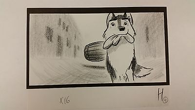 Balto Animated Film - Storyboard - Balto w/mitten -USSBA.009.1251