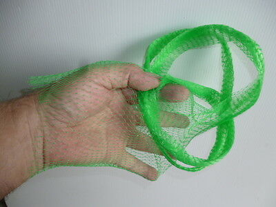 Onion bag polynet plastic mesh / tube GREEN  Market stall,  fishing berley net
