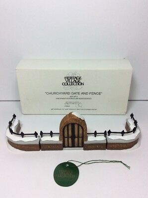 Dept 56 Dickens Village 5806-8 Churchyard Gate and Fence Set of 3 58068 NEW NOS