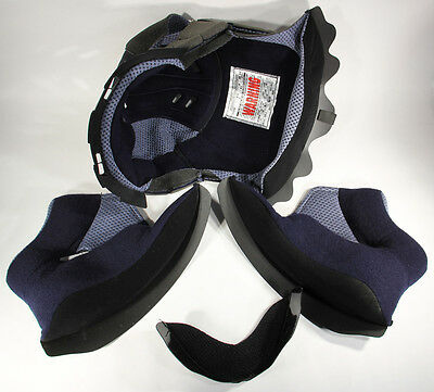 L001319 SHARK HELMET / RSX / COMPLETE LINING with CHEEK PADS & CHIN / M / NEW