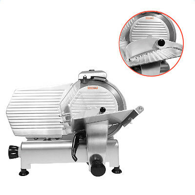"12""Blade Commercial Meat Slicer Electric Deli Slicer Veggies Cutter Kitchen"