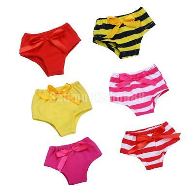Set of 6pcs Underwear Pants for 18 Inch American Girl Our Generation Doll