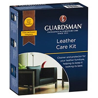 Guardsman Leather care cleaning kit for lounges complete kit cleaner leather