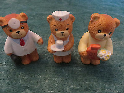 Lucy & Me Enesco Lucy Rigg Teddy Bear Nurse, Doctor Porcelain & get  well