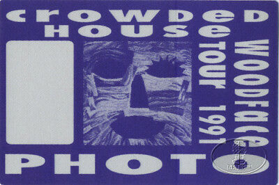 CROWDED HOUSE 1991 Backstage Pass SPLIT ENZ NEIL FINN