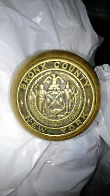 BRONX COUNTY New York Courthouse Door Knob Brass