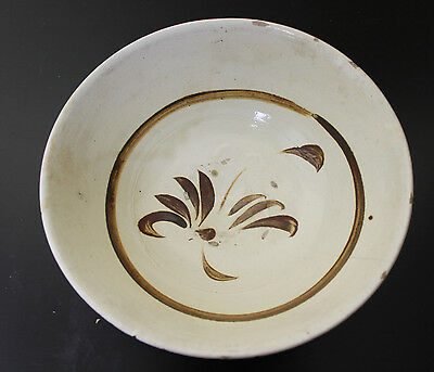 Antique Chinese Song Sung Dynasty Cizhou Tz'u Chou Yao Kiln Pottery Bowl