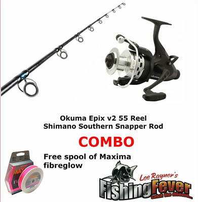 Okuma Shimano Snapper Baitrunner Combo BRAND NEW at Fishing Fever with Free Line